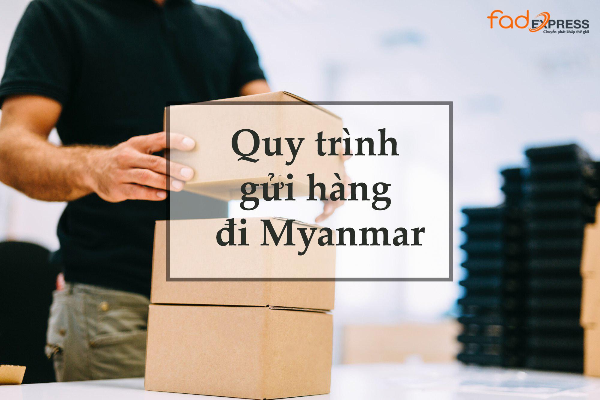 gửi hàng hóa từ Việt Nam đi Myanmar