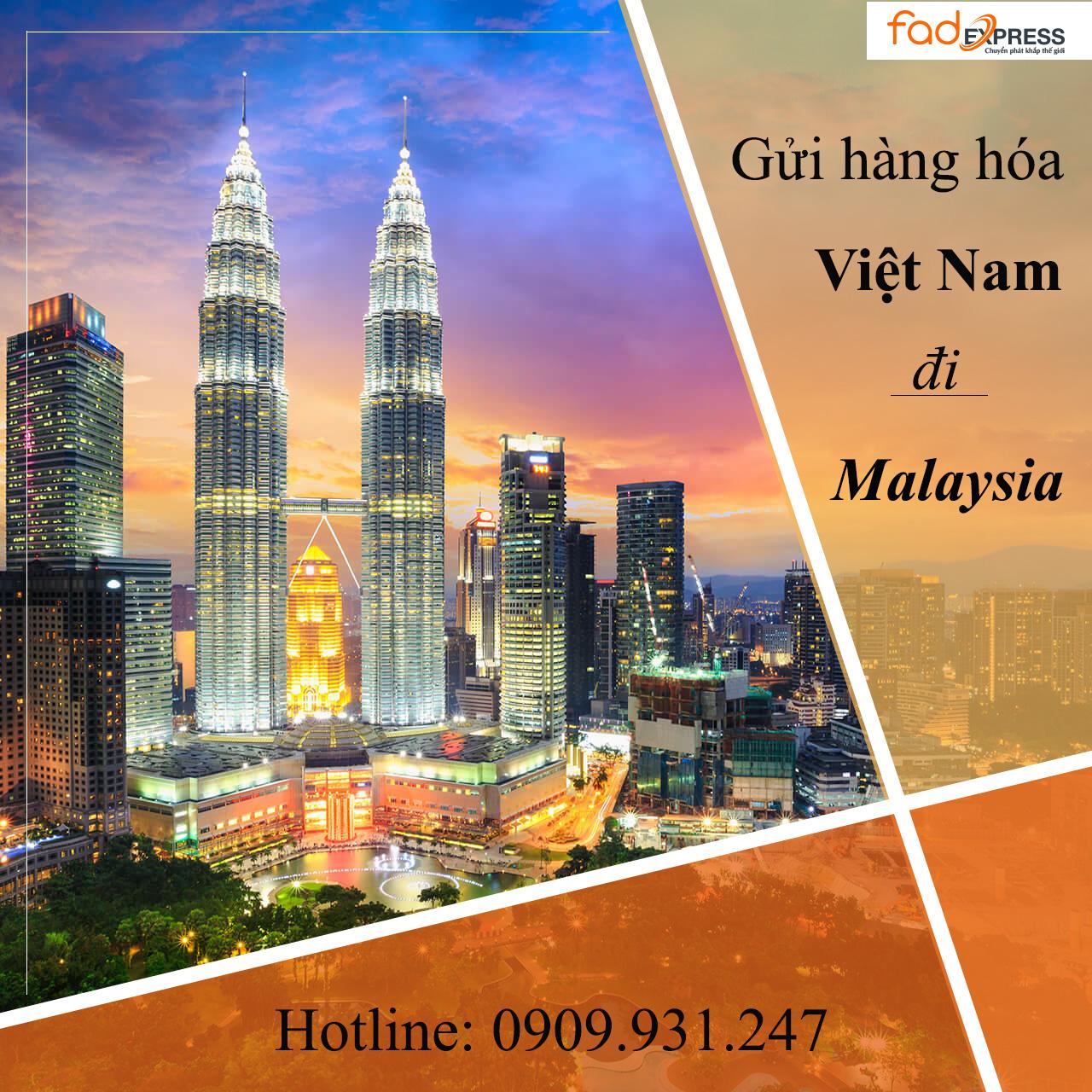 gửi hàng từ Việt Nam đi Malaysia