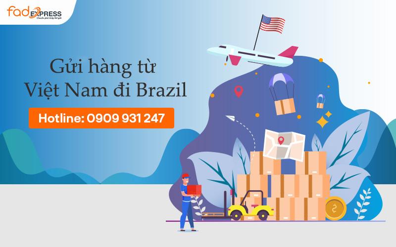 gửi hàng từ Việt Nam đi Brazil