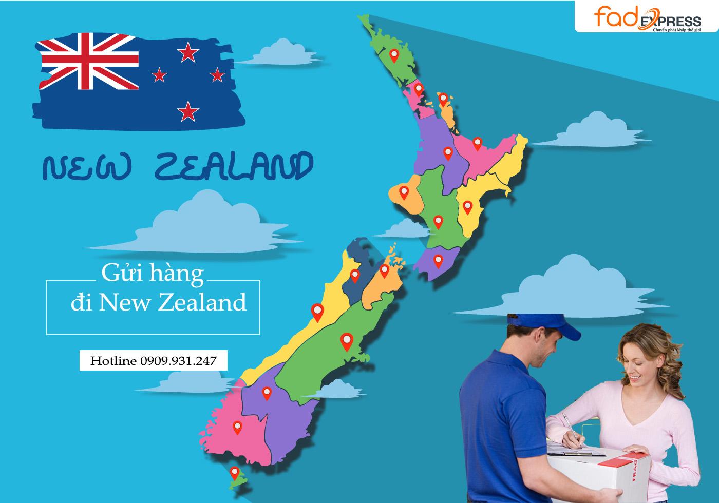 gừi hàng hóa từ Việt Nam đi New Zealand